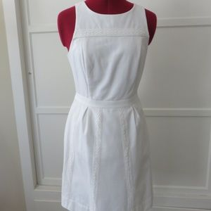 J. Crew white cotton summer/spring dress Sz 4